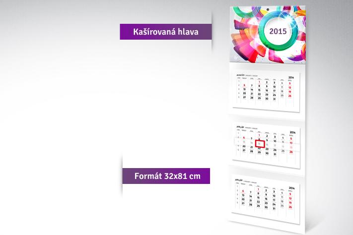 Trojdielny kalendár