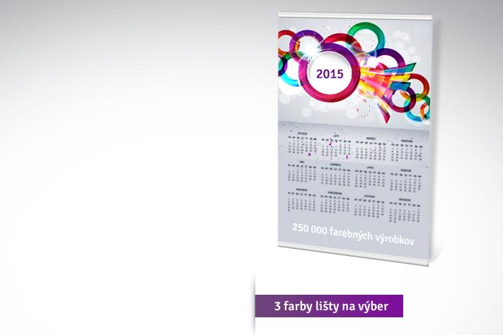 Plagátový kalendár s lištou